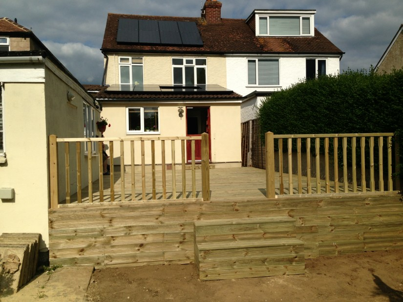 Raised Wooden Decking