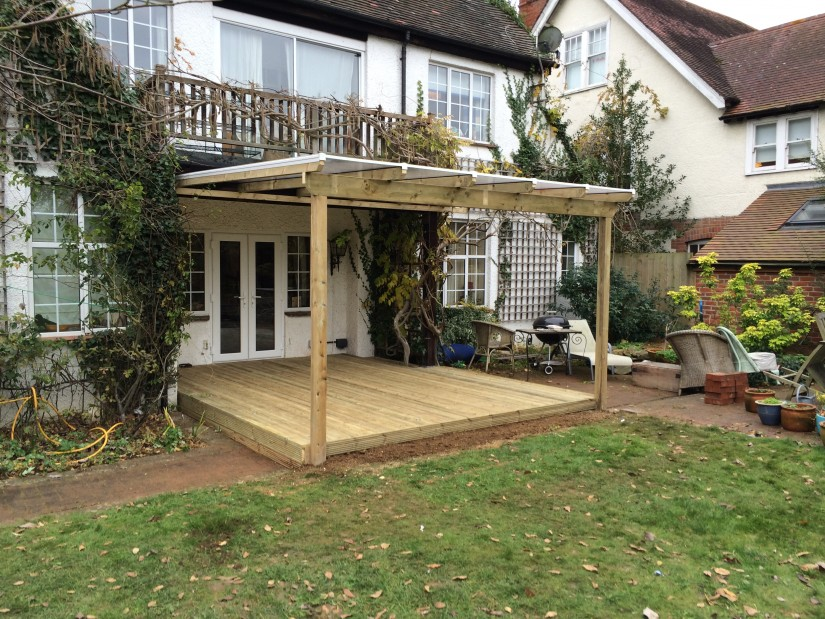 Oxford Wooden Decking Job